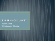 EXPERIENCE SURVEY_METRES