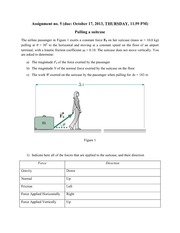 Physics - Assignment 5- Pulling a Suitcase