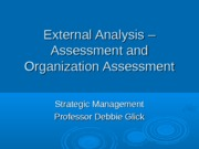 Week 3 Ebay External Analysis EFA and Org Assess