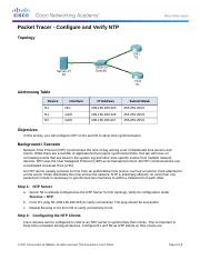 10.2.1.4 Packet Tracer - Configure and Verify NTP.docx