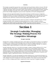 Business Integration and Strategic Management