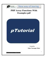 Php Array Functions Pdf