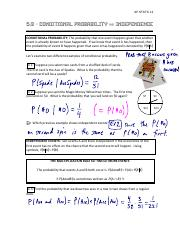 5.3 Conditional Probability & Independence Notes Inked.pdf