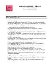 Marketing Study Guide Chapter 1&2