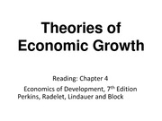 Topic4_Theories of Economic Growth