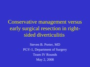 Right Sided Diverticulitis - SPorter