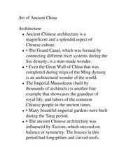 Art of Ancient China-Architecture