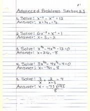 Advanced Problems Section 11.3