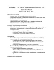 week 6-the rise of the canadian cosumer and canadian retail P1