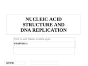 Chapter 11 - Nucleic Acid Structure and DNA Replication