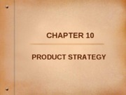 10 - Product Strategy