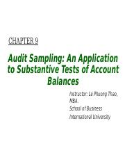 LECTURE 5 - Chapter 9 - Audit Sampling An Application to Substantive Tests of Account Balances.ppt