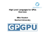 05 High Level Languages for GPU