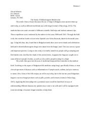 Bio Article Report - Journal of Mycology