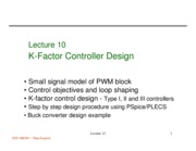 472 Lecture 10 K factor controller