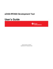 slau227e - eZ430-RF2500 Development Tool User's Guide