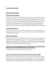 Discussion 6 1 Crusades  .docx