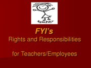 FYI's Rights and Responsibilities