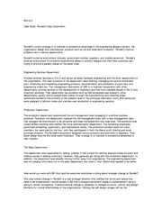 rondell data corp case study Organizational theory and design case study analysis rondell data corporation case analysis abstract: the analysis of rondell data corporation situation and discrepancies that were experienced throughout the company life cycle will help understanding the theory and design of organizations.