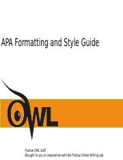 OWL at Purdue How to format papers