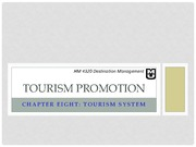 Chapter 8_Tourism Promotion