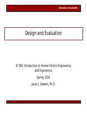 IE580 Lecture 3 Design and Evaluation 011516.ppt