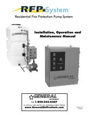 Fire protection pump (residential)