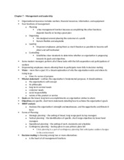 Mgmt 1 Midterm Study Guide