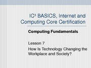 Computing Fundamentals Lesson 07