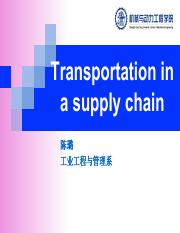 05. Transportation in a supply chain