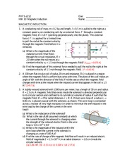 Magnetic Induction HW 10