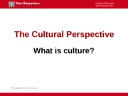 Intro to Culture 1203