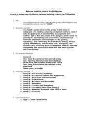 National building code of the Philippines  reviewer exam.docx