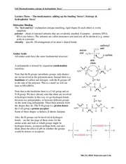 Energetics of Binding and Thermodynamics Notes