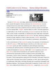 Child Labor in History Article -  Fill in the Blanks.docx