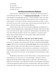 rene descartes meditations on first philosophy essay conclusion
