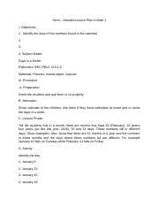 Lesson Plan 1 - Semi Detailed Lesson Plan in MTB MLE 1 I