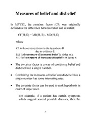 Measures of belief and dis belief notes
