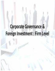 Corporate Governance & Foreign Investment.pptx