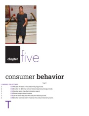 Chapter 5 Notes - Consumer Behavior