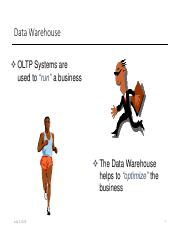 Final 3. Data Warehousing - Overview
