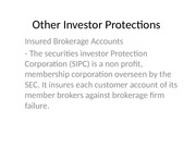 Other Investor Protections
