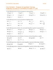 Class Worksheet - Properties of Logarithmic Functions2.docx