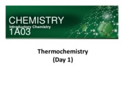 Unit 8 - Thermochemistry -day 1 - posted