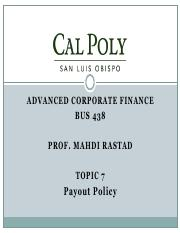 Topic7-Payout Policy