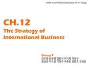 Team 7. The strategy of International Business