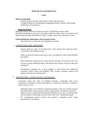 PRINCIPLESOFMARKETING-Notes-Unit1