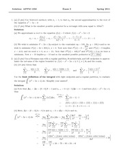 Exam 3 Solution Spring 2011 on Calculus 1 for Engineers
