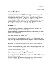 Volcanic Landforms Notes