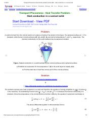Transport Phenomena heat transfer problem solution BSL _ Heat conduction in a conical solid.pdf
